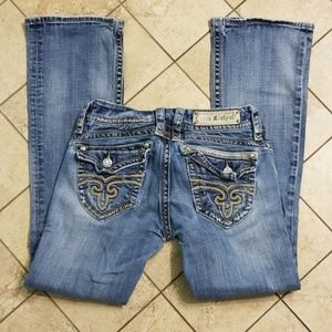 Rock Revival Distressed Gwen Boot Jeans Size 28